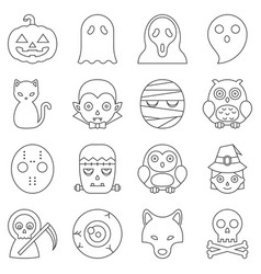 Halloween cute cartoon character vector