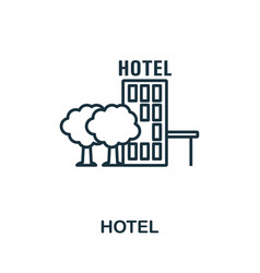 hotel outline icon thin line concept element from vector image