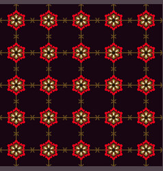 japanese seamless pattern flower vector image