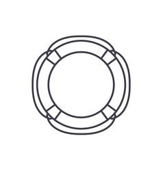 lifebuoy line icon concept lifebuoy linear vector image