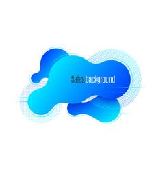 liquid shape promotion banner sticker modern vector image