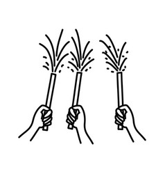 lovely festival icon doodle hand drawn or outline vector image