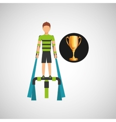 man extreme sport tophy icon vector image