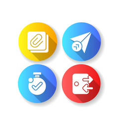 mobile application comfortable interface flat vector image