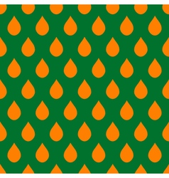 Orange Green Water Drops Background vector image