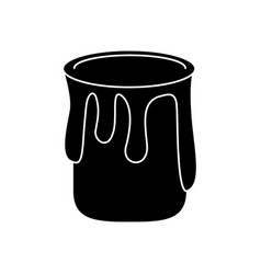 paint can colo pictogram vector image