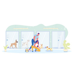 Pick up favorite pet from hotel for dogs banner vector