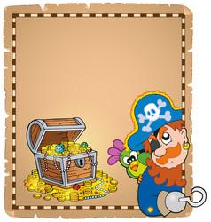 pirate theme parchment 8 vector image