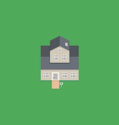 pixel art house vector image
