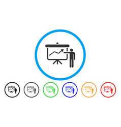 project presentation rounded icon vector image