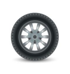 Realistic car wheel tyre vector