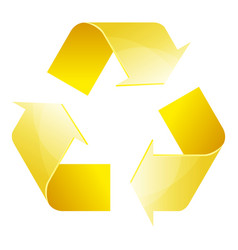 Recycle symbol of conservation yellow icon vector
