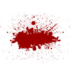 red color splatter background vector image