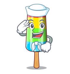sailor colorful ice cream sticks on cartoon vector image