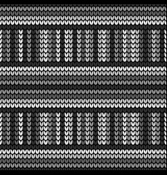 seamless black knitting vector image