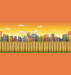 Seamless city landscape background vector