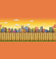 seamless city landscape background vector image
