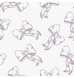 Seamless pattern with outline bows vector image