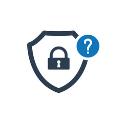 Security icon with question mark vector