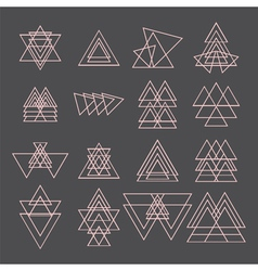 Set of trendy geometric shapes Geometric icons vector