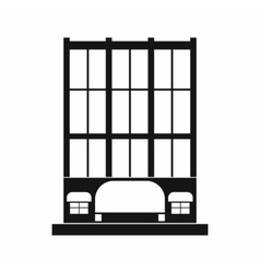 Shopping center store building icon vector image