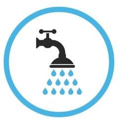 Shower Tap Flat Icon vector image