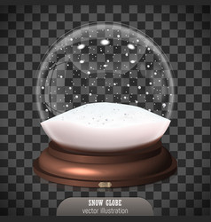 Snow globe on transparent background merry vector