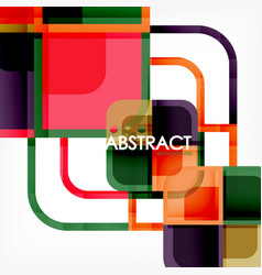 square geometric abstract background paper art vector image