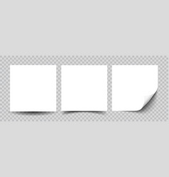 sticky note paper isolated realistic vector image