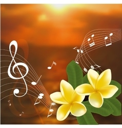 Summer music party template with realistic vector