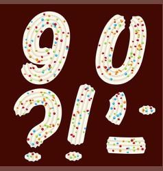 Tempting tipography font design 3d numbers nine vector