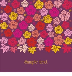 Texture consists of flowers vector