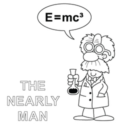 The nearly man vector image