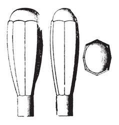 Tool handle vintage vector