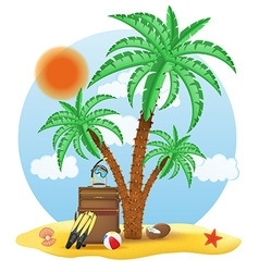 tropical palm tree 04 vector image