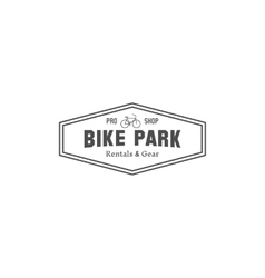 Vintage mountain bike shop park camping badge vector image vector image