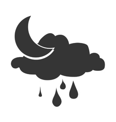 Weather and clouds isolated flat icon vector image