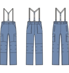 Work pants with braces vector image