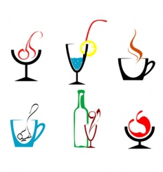 beverages and drinks vector image vector image