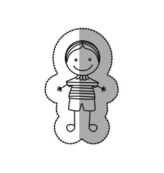 figure nerd boy icon vector image vector image