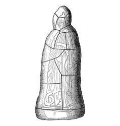 Mold statue vintage engraving vector image vector image
