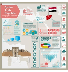 Syria infographics statistical data sights vector image
