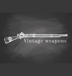 vintage weapon poster vector image vector image