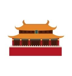 Beautiful china travel landmarks chinese temple vector image vector image