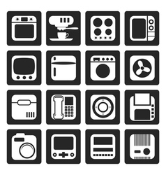 Black Home and Office Equipment Icons vector image