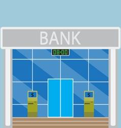 Building modern bank vector image