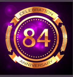 eighty four years anniversary celebration with vector image vector image