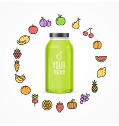 Juice Bottle Jar Template vector image vector image