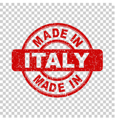 made in italy red stamp on isolated background vector image vector image