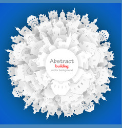 abstract 3d paper city background vector image vector image
